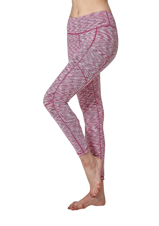 Lotus Instyle Linea di Cross Crossing Linea Donna Capri Running Yoga Pantaloni Leggings con Tasche