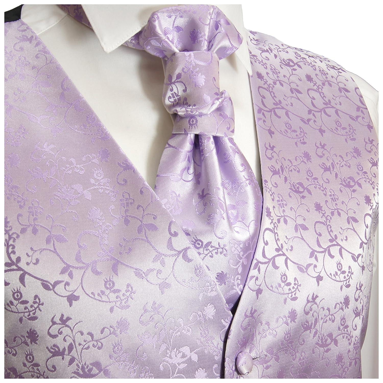 Paul Malone Hochzeitsmode Herren Hochzeitsweste Set 5tlg flieder lila violett