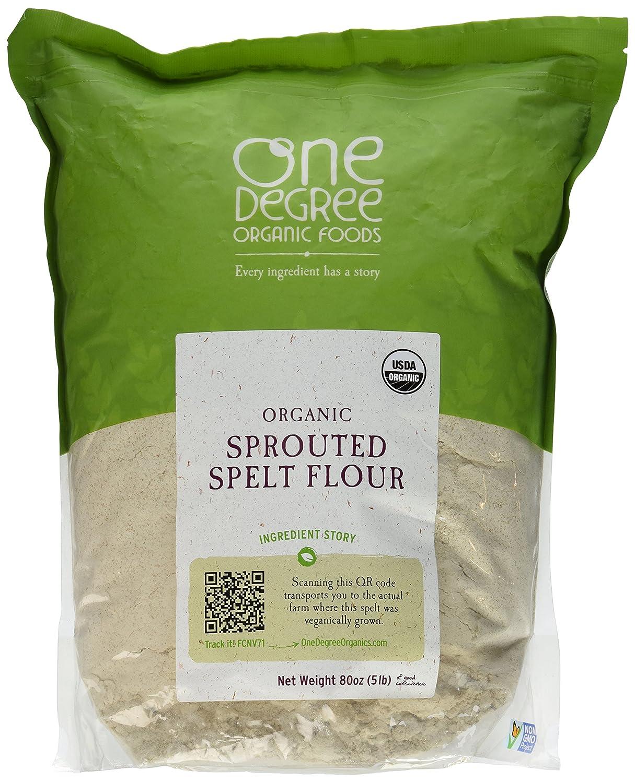 Harina de espelta germinada orgánica, 80 oz (5 lb)
