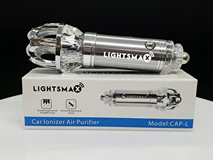 Amazoncom Car Air Purifier Lightsmax Car Air Freshener and Ionic