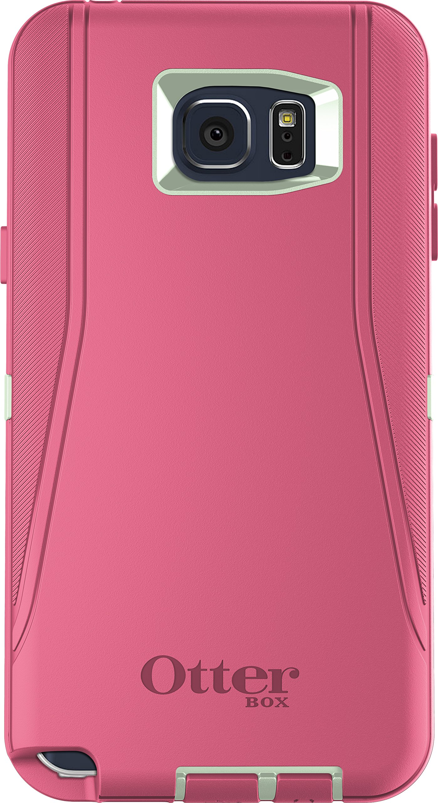 OtterBox DEFENDER Cell Phone Case for Samsung Galaxy Note5 - Retail Packaging - MELON POP (SAGE GREEN/HIBISCUS PINK)
