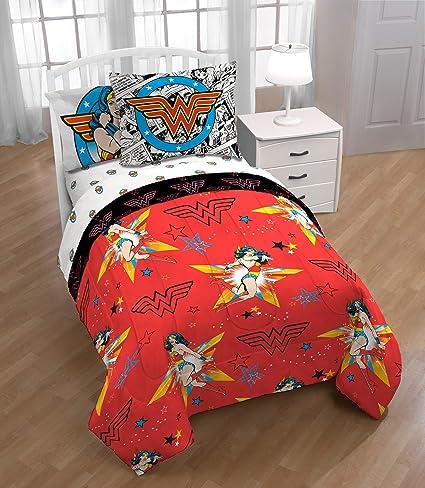 Amazoncom Piece Girls Orange Multi I Am Wonder Woman Theme - Orange print sheets