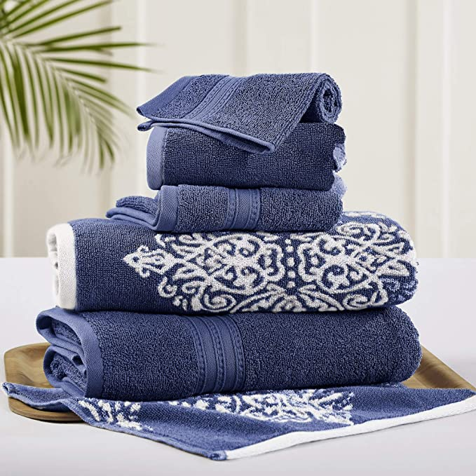 Details about  /Set of 4 Super Water Absorption Soft Dark Gray Dyed Jacquard Velour Hand Towels