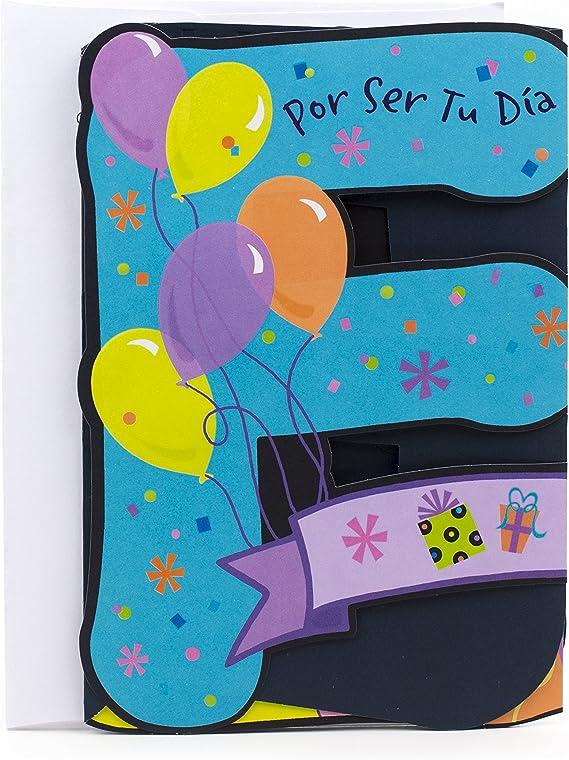 Hallmark Vida Spanish Birthday Card (Feliz Lettering)