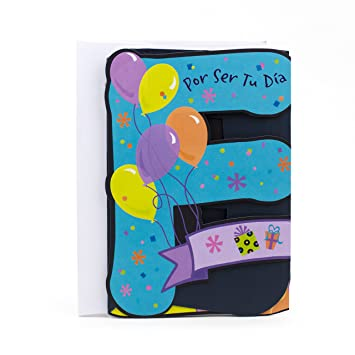 Amazon Hallmark Vida Spanish Birthday Card Feliz Lettering