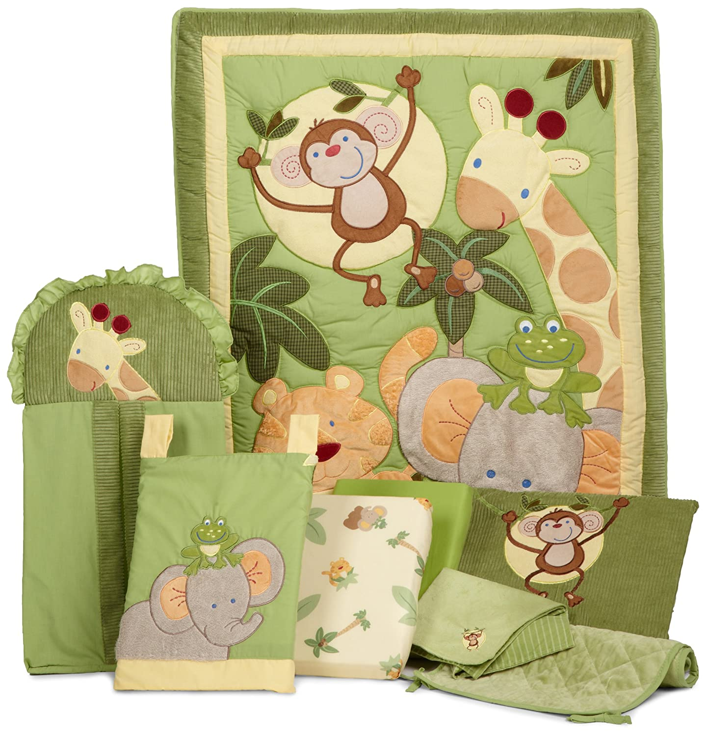 NoJo Jungle Babies 8 Piece Bedding Set Crown Craft Infant Products 3544608