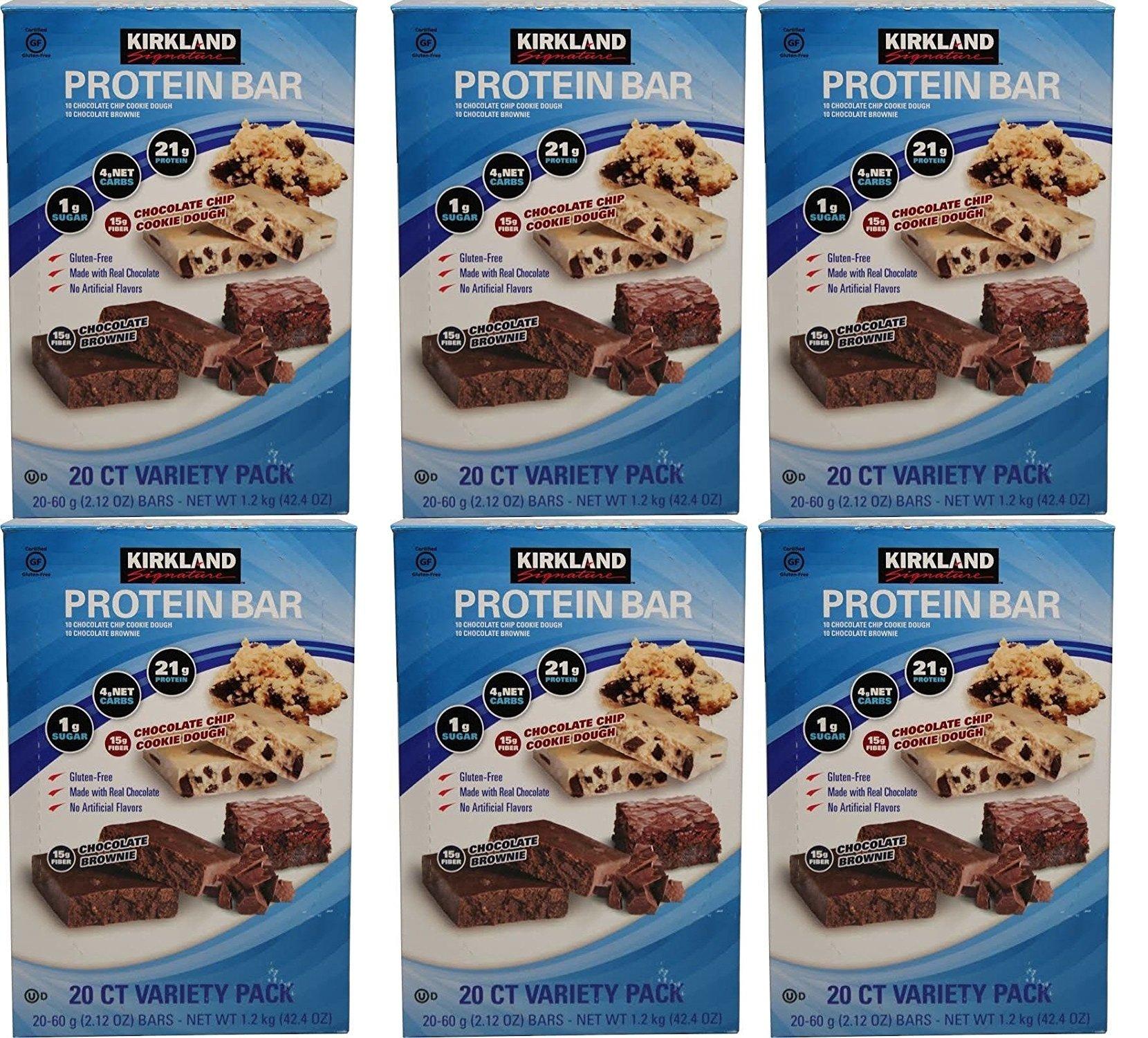 Kirkland Signature Protein bar energy variety pack lvATwK, 3Psck (40 Count)