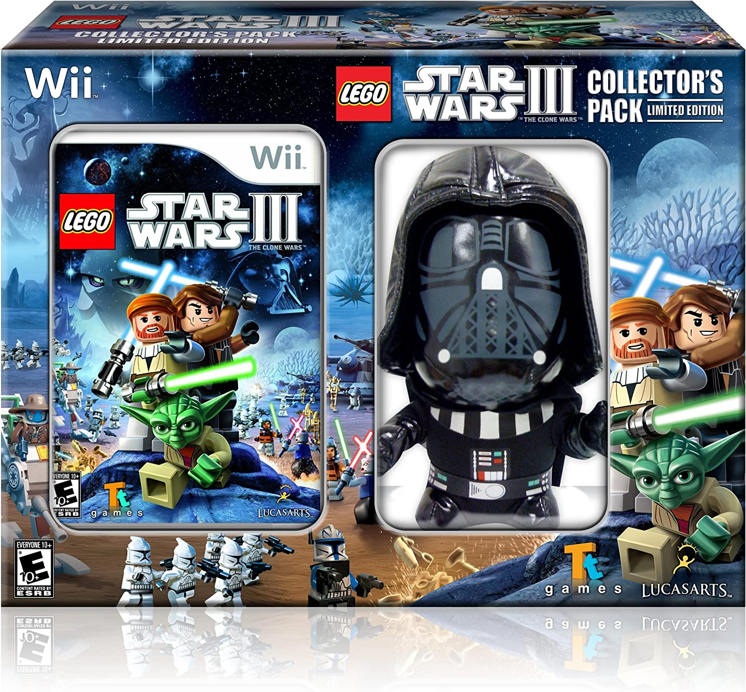 Lego star wars iii the clone wars vehicle info - Amazon Com Lego Star Wars Iii The Clone Wars Wii Game With Darth Vader Plush Video Games