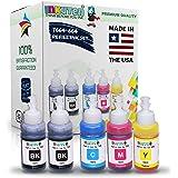 INKUTEN (TM) Set of 5 Refill Ink Kit Ecotank 70ml for T6641 T6642 T6643 T6644 and Expression Eco tank ET-2500 ET-2550 ET-4500 ET-4550 L100 L110 L120 L200 L210 L300 L350 L355 L550 L555 Printers