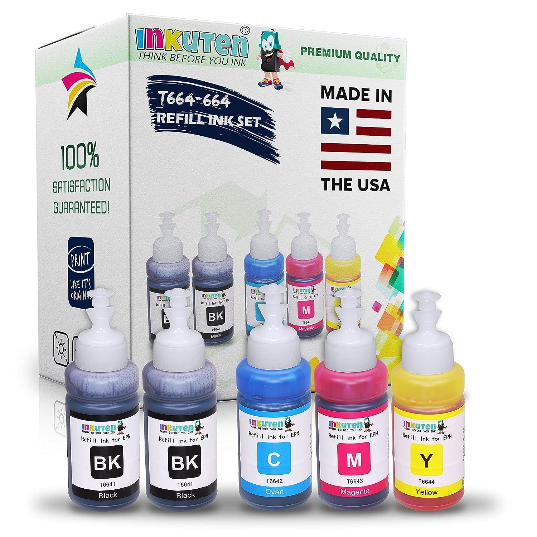 Amazon.com: inkuten (TM) Conjunto de 5de tinta Refill ...