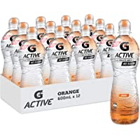 Gatorade G-Active Orange Flavoured Electrolyte Water, 12 x 600ml