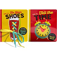 2 Pack How To Board Boards: How To Tie Your Shoes & How To Tell Time