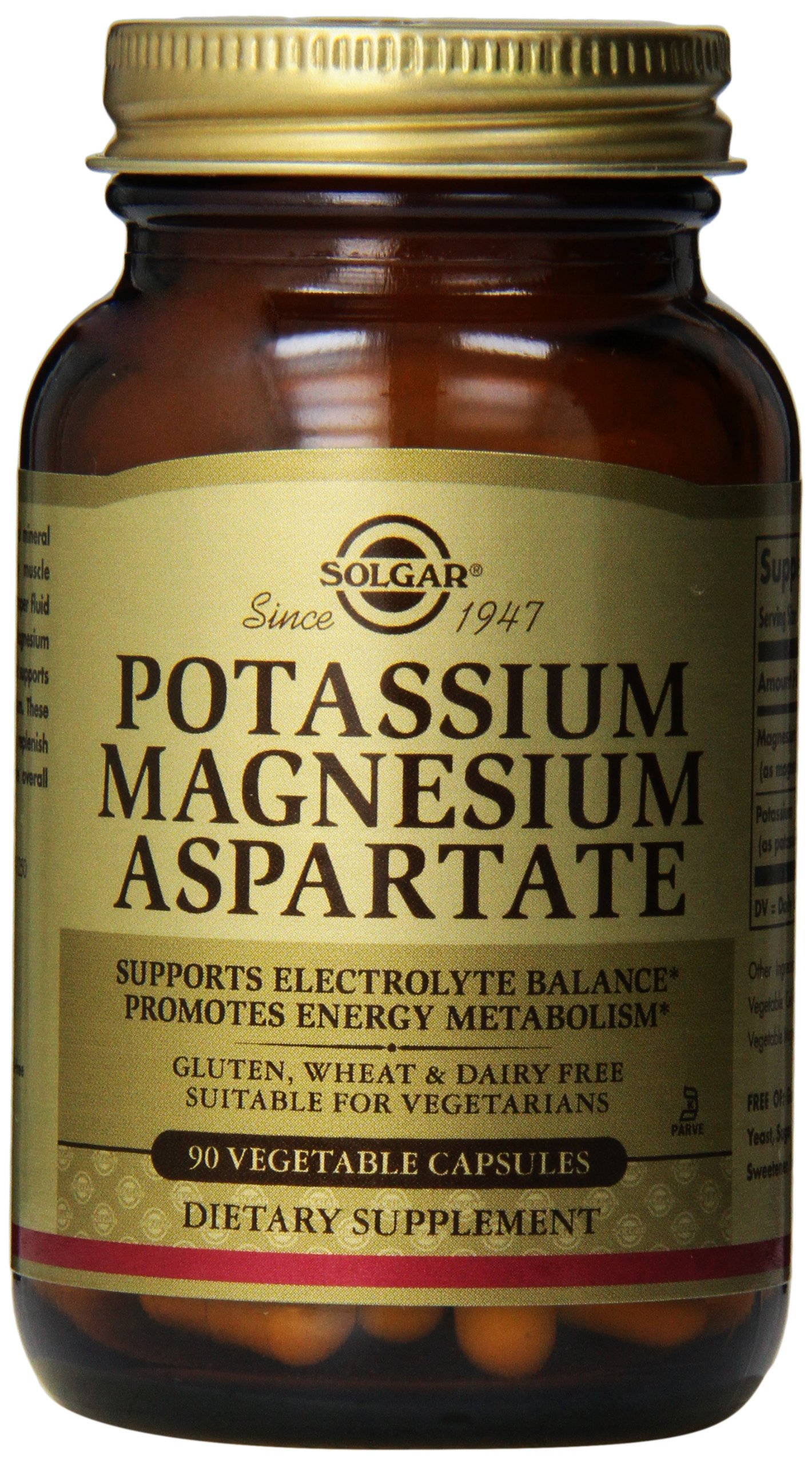 Amazon.com: Solgar – Potassium Magnesium Aspartate, 90 Vegetable Capsules: Health & Personal Care