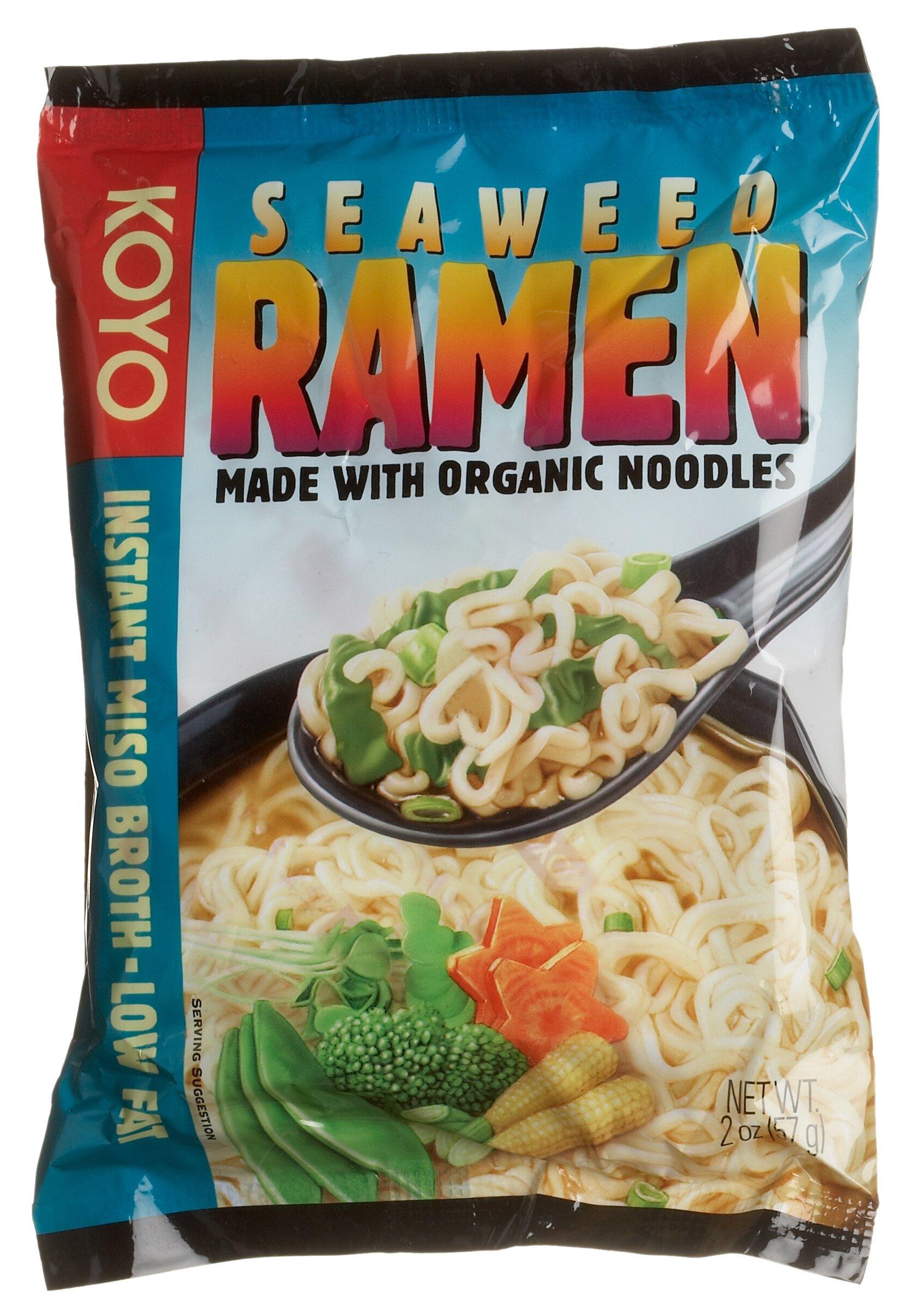 Koyo Foods Seaweed Ramen, 2 Ounce Packages (Pack of 12)