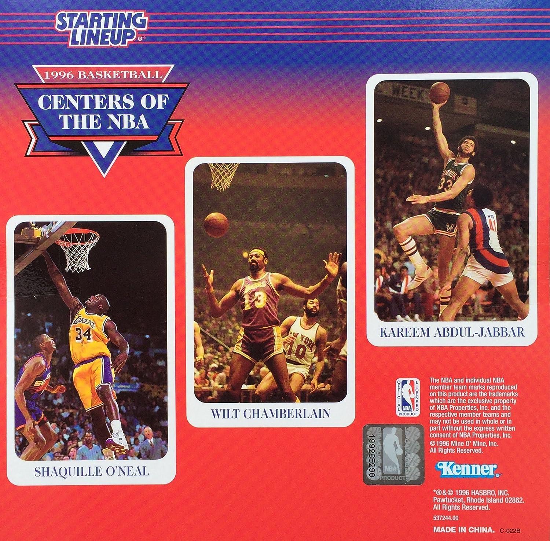 SHAQUILLE//WILT CHAMBERLAIN//KAREEM Starting Lineup 1996 Basketball Collector Club Set