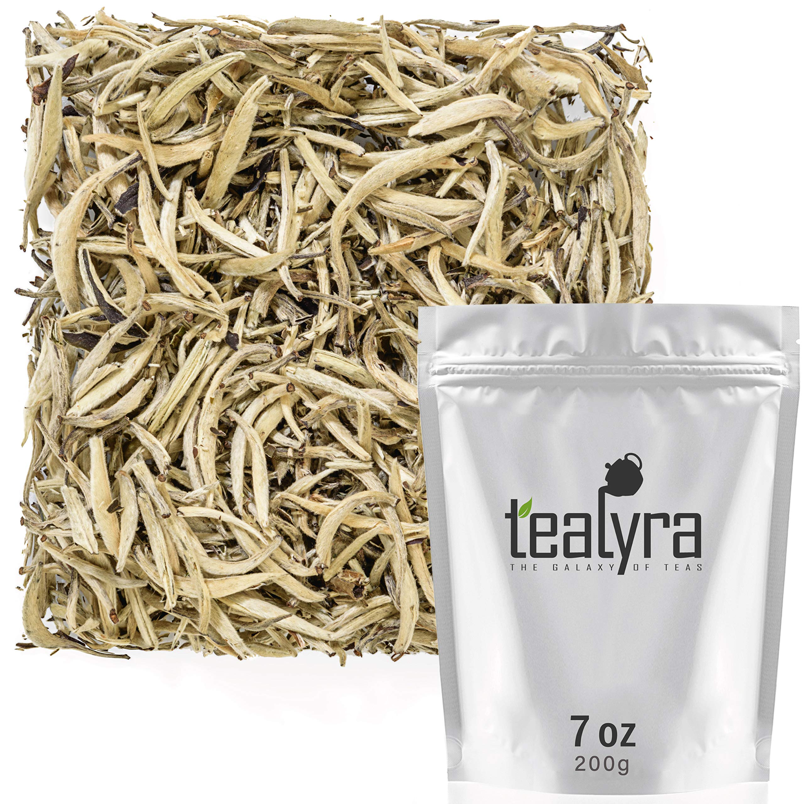 Tealyra - Imperial Yunnan Silver Needle - White Loose Leaf Tea - Organically Grown - Caffeine Level Low - 200g (7-ounce) by Tealyra