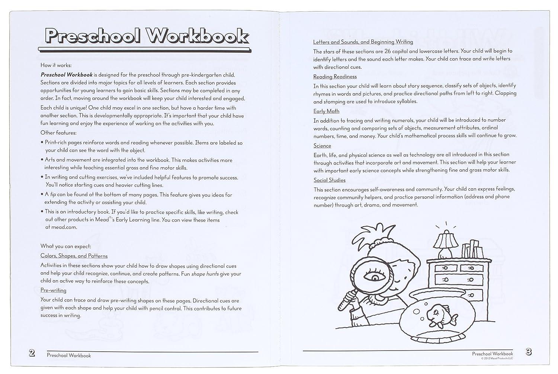 Amazon.com : Mead Success In Preschool Workbook, Grades Pre-K (48108 ...