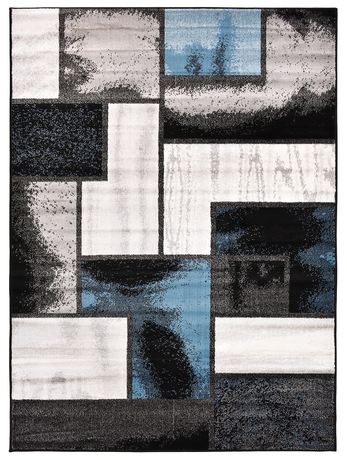 amazoncom comfy collection squares geometric design area rug moderncontemporary rug  color options (blue  grey  x  mat) kitchen dining. amazoncom comfy collection squares geometric design area rug