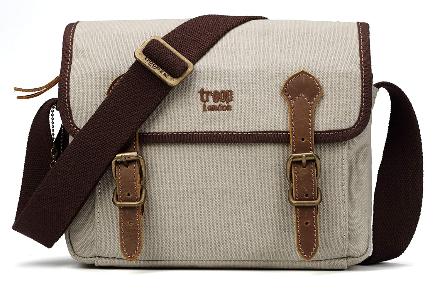 Troop London Canvas Classic Small Messenger Across Body Shoulder Bag TRP0412