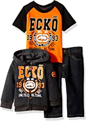 Ecko Unltd. Baby Boys Jacket, T-Shirt and Pant Set (More Styles