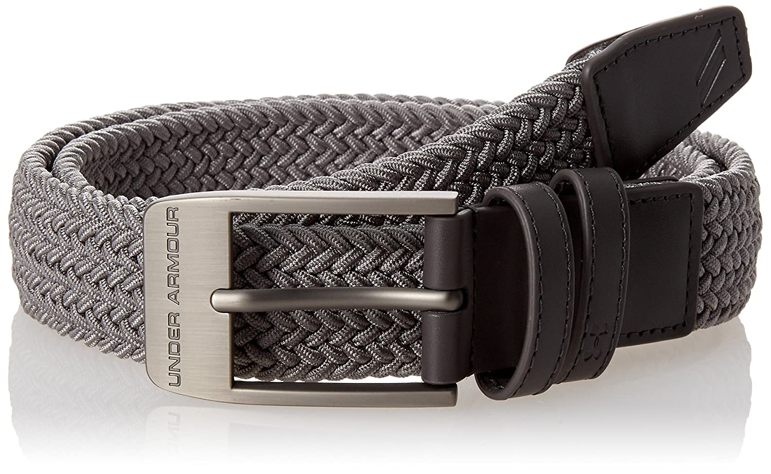 Zinc Gray Under Armour Mens Braided 2.0 Belt 32 Under Armour Accessories 1306538
