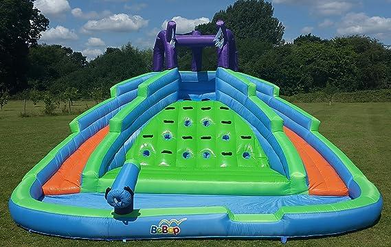 BeBoP Castillo Hinchable de Doble Pico para Agua: Amazon.es: Juguetes y juegos