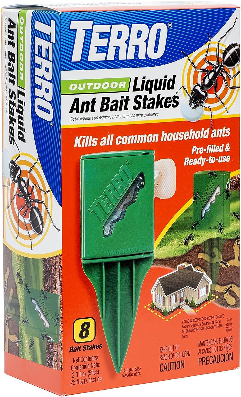 Amazon Com Terro T1812 Outdoor Liquid Ant Killer Bait Stakes 8 Traps Industrial Scientific