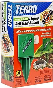 8-Count TERRO T1812 Outdoor Liquid Ant Killer Bait Stakes