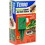 TERRO T1812 Outdoor Liquid Ant Killer Bait Stakes - 8 Traps