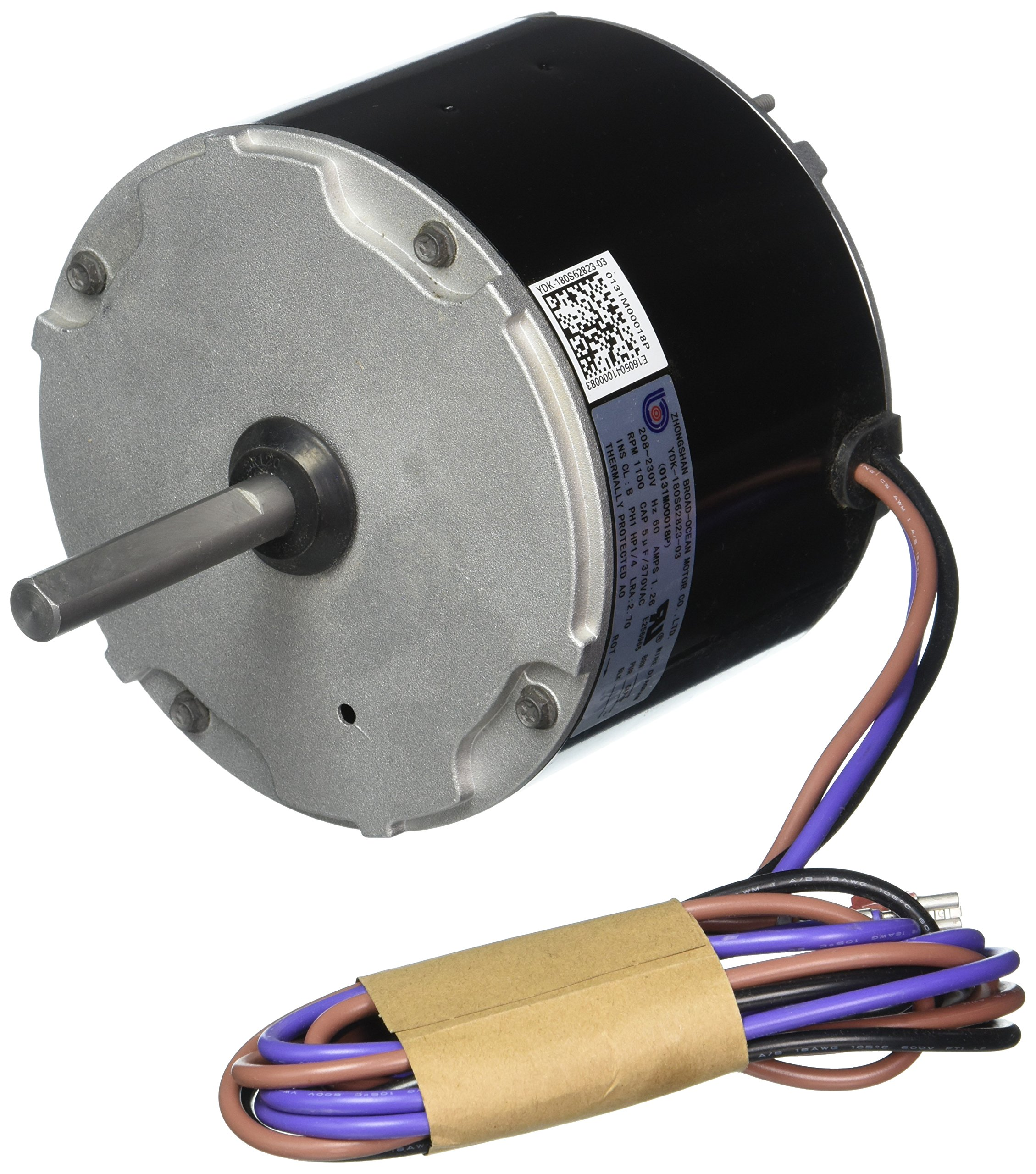 Goodman 0131M00018PSP 1-Speed Condenser Fan Motor, 208/230 Volts, 1/4 Hp, 1,100 RPM by Goodman (Image #1)