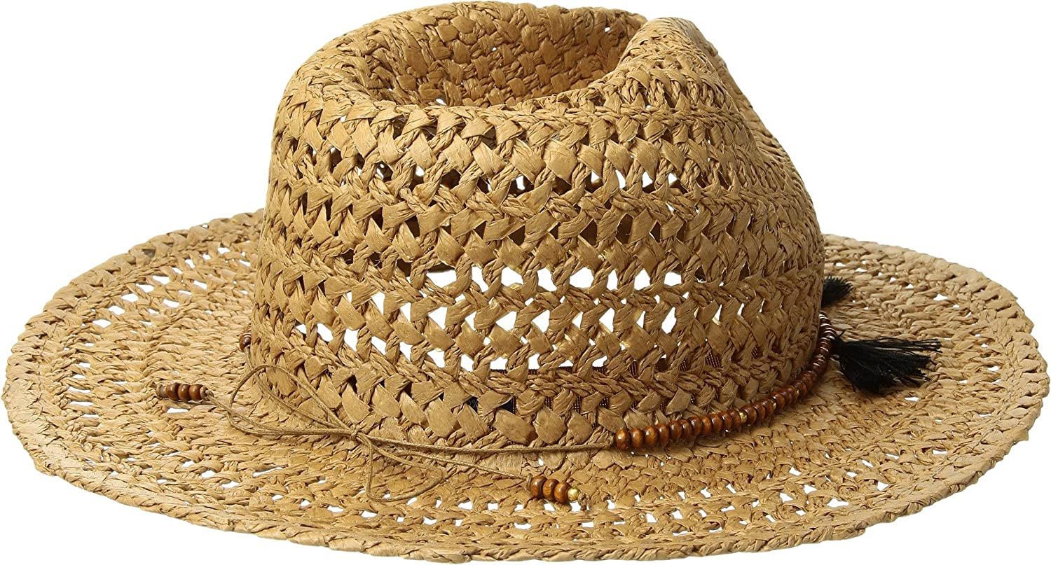 fe873bb81b7 Hat Attack Women s Cane Rancher w Wood Bead Tassel Toast Black One Size   Amazon.ca  Clothing   Accessories