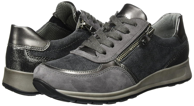 ARA Damen Osaka Sneaker Grau (Zinn/Titan,crow/Fucile) (Zinn/Titan,crow/Fucile) Grau e4303a