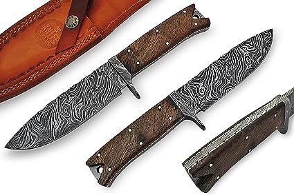 Amazon.com: Custom Damasco Handmade cuchillo de caza con ...