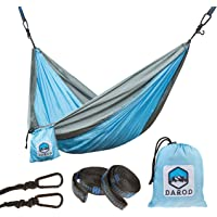 Darod Portable Nylon Camping Hammock for Kids Lightweight Parachute Hammock Swing Bed with Heavy Duty Tree Straps for Indoor and Outdoor Backpacking, Camping, Travel, Beach, Yard