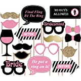 Bachelorette Photo Booth Props - Fun Bridal Party Pleasures - 20pcs Set Perfect For The Hens Night Before The Wedding