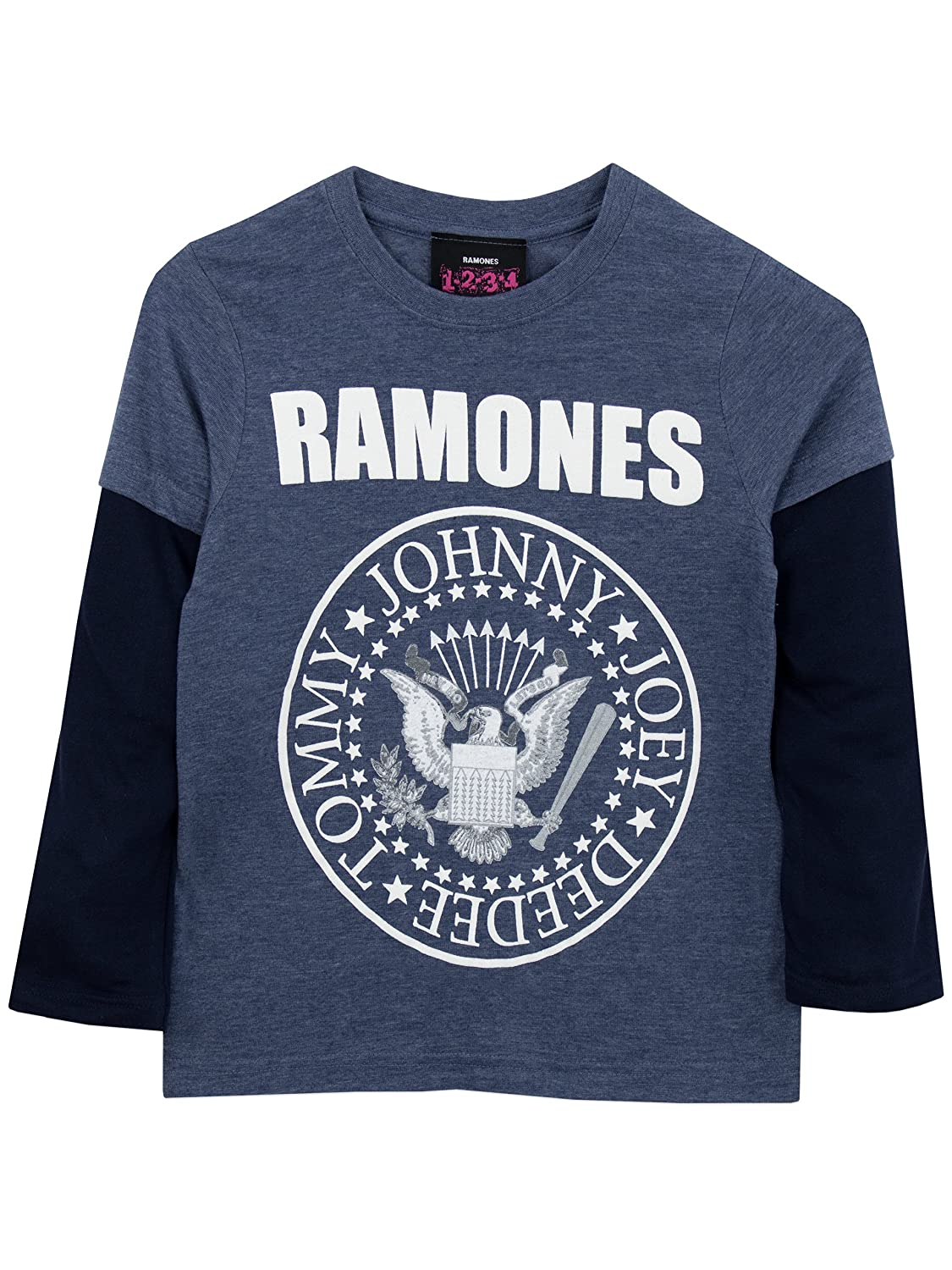 Ramones Boys Long Sleeved Top Ages 3 to 13 Years