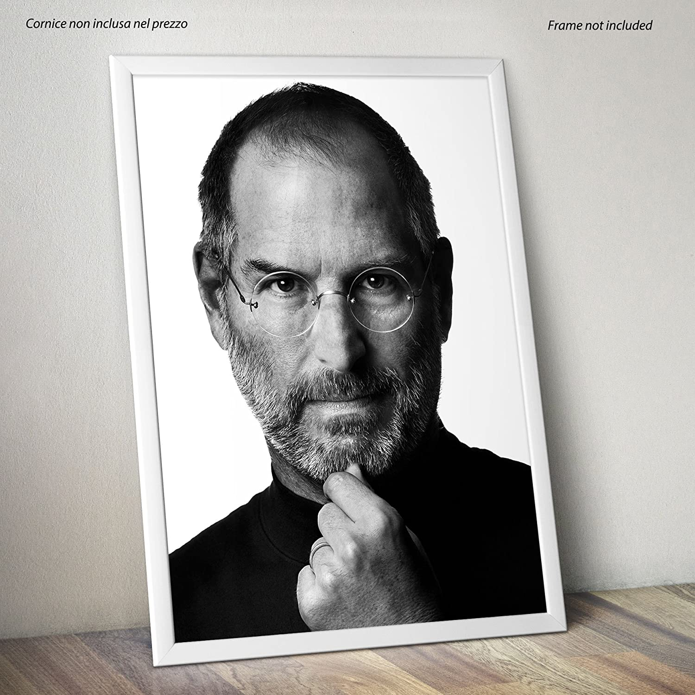 su Carta Lucida Fotografica 30cmx40cm Steve Jobs Formato LaMAGLIERIA Poster Alta qualit/à