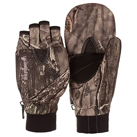 58ba5be10205a Huntworth Ladies Hunting Oaktree Camo Extreme Cold Pop-Top Womens Glove  (Large)