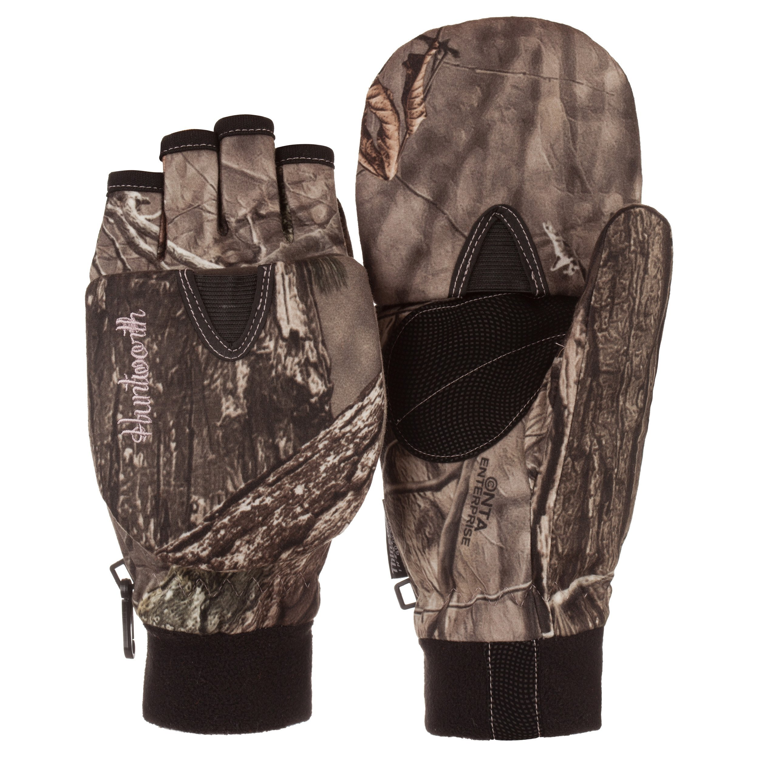 Huntworth Ladies Hunting HIDD'N Camo Extreme Cold Pop-Top Womens Glove (Small)