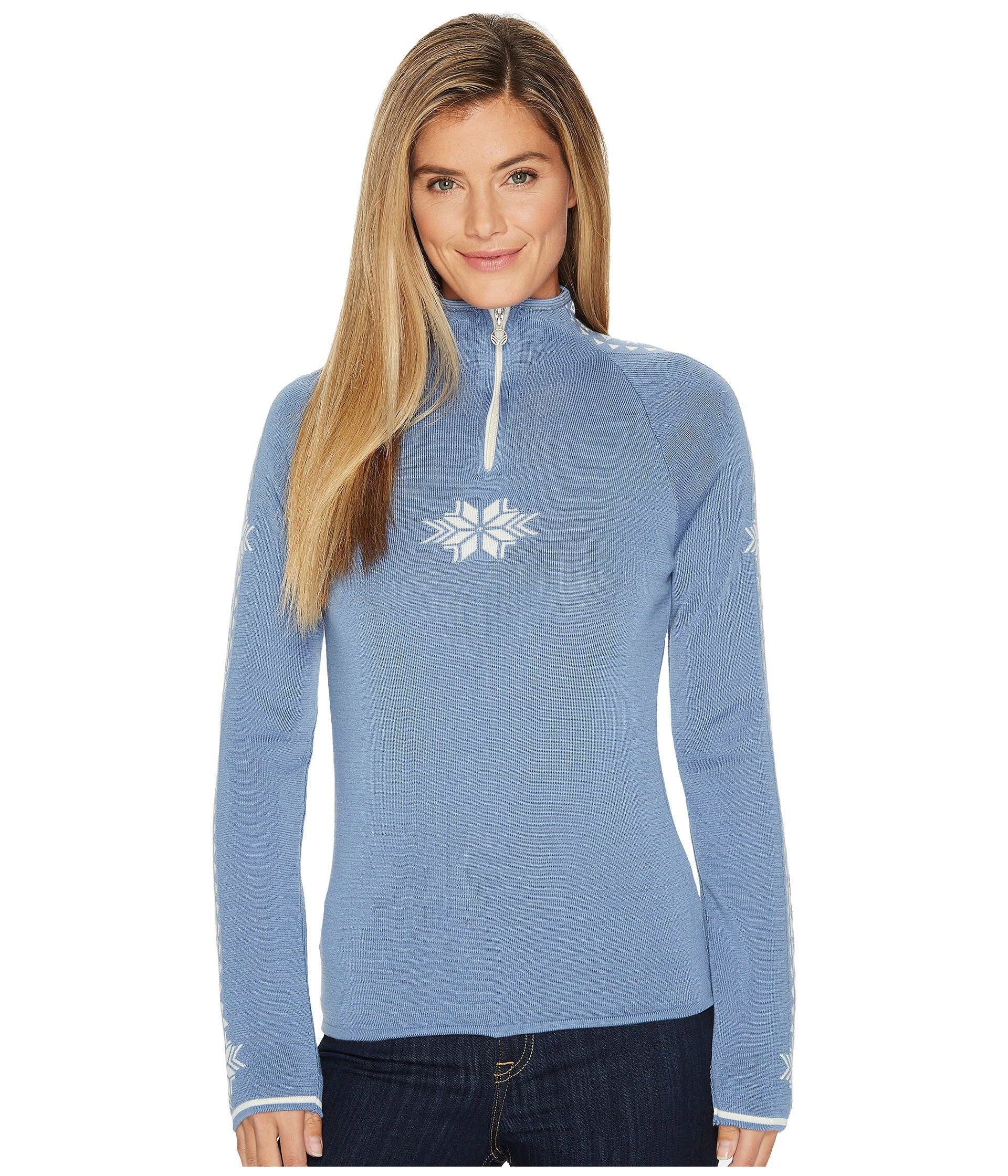 Dale of Norway Women's Geilo Feminine D-Blue Shadow/Off-White X-Large