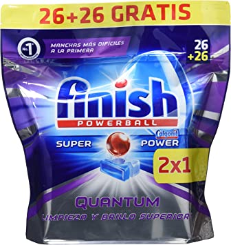 Finish Quantum Lavavajillas Pastillas Regular - 26+26 Unidades ...