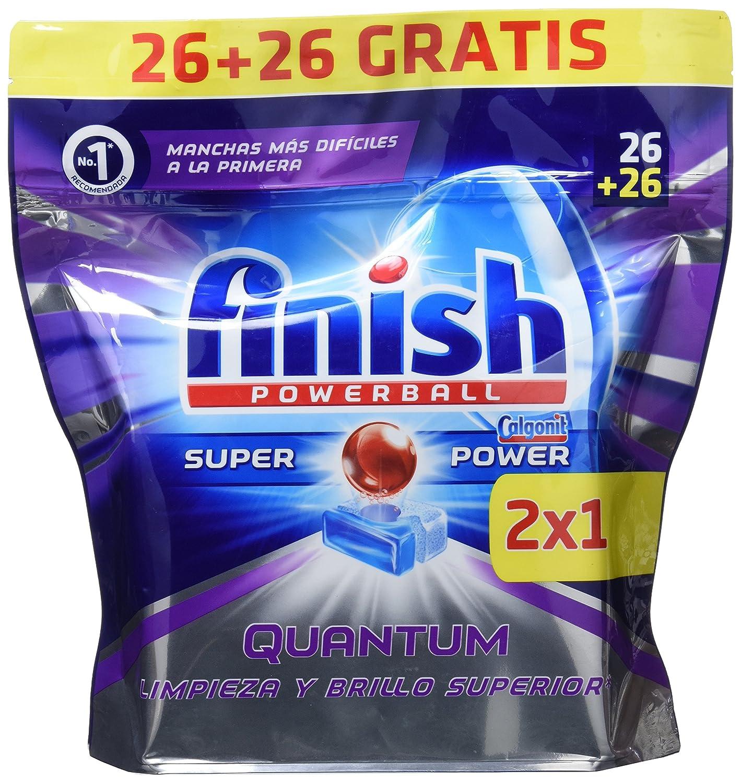 Finish Quantum Lavavajillas Pastillas Regular - 26+26 Unidades ...