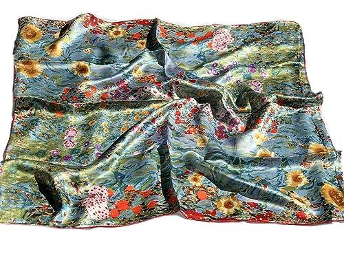 Prettystern – 90cm Art Nouveau Arte paño pintura impresión hecha de 100% satén de seda – Gustav Klimt – diferentes motivos