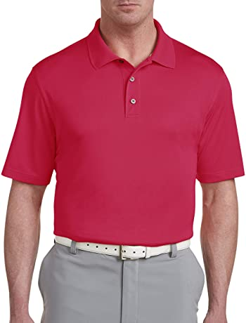 Big and Tall Golf Speedwick Solid Polo Shirt