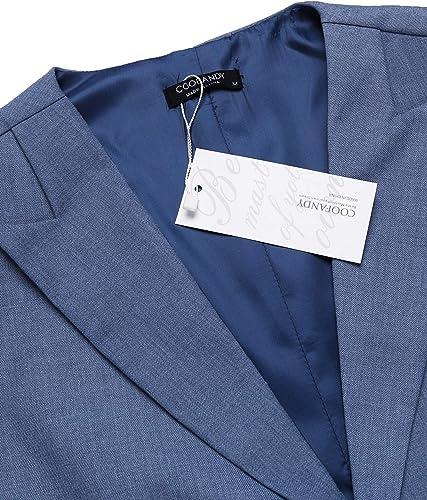 COOFANDY Chaleco de traje para hombre, corte ajustado, cuello en V, sin mangas, con 5 botones, para negocios, informal, clásico, básico, para hombre ...