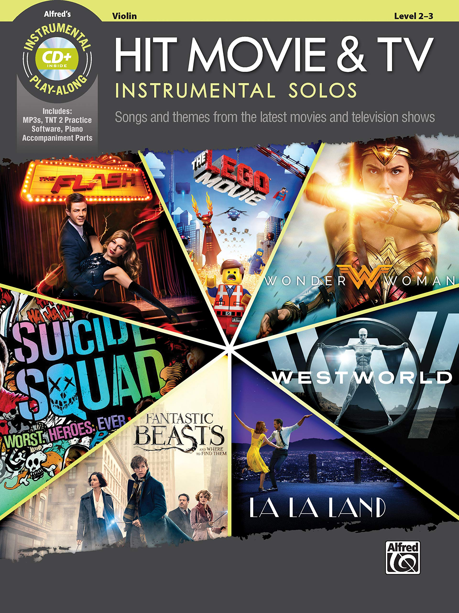 Hit Movie & TV Instrumental Solos for Strings: Songs and Themes from the Latest Movies and Television Shows (Violin), Book & CD (Instrumental Solos Series)