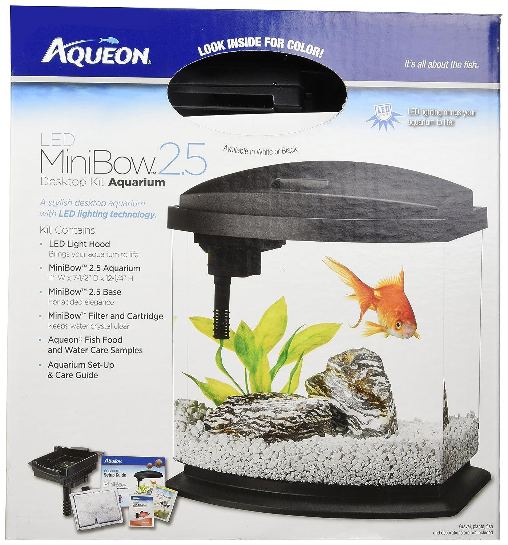 Amazon Aqueon MiniBow LED Kit 2 5 Gallon White Pet Supplies