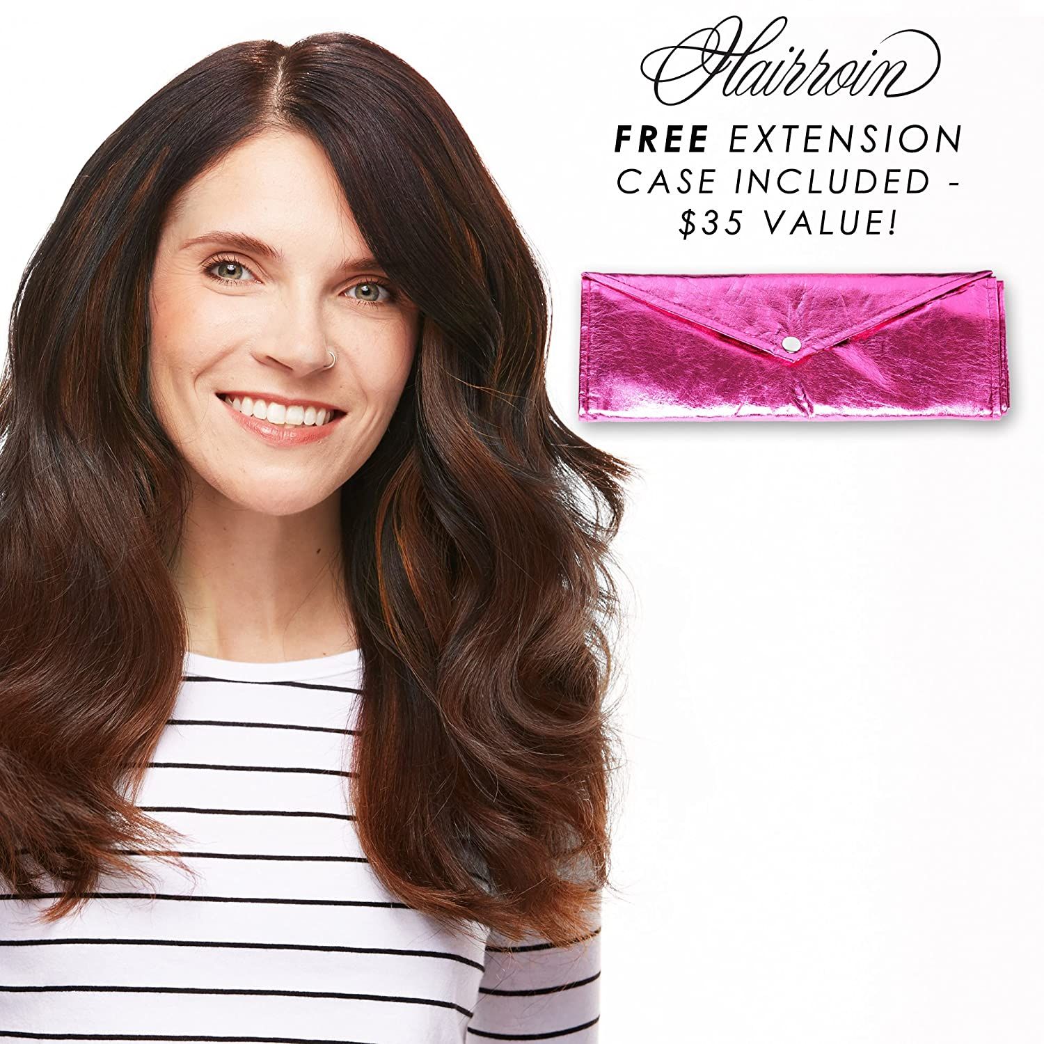 Amazon Hairroin 7 Piece Remy Hair Extensions With Clutch 16