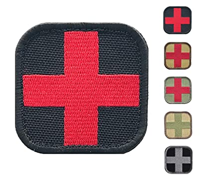 Medic Cross First Aid Morale Patch - Stitch/Embroidered - Perfect for IFAK  Rip Away Pouch, EMT, EMS, Trauma, Medical, Paramedic First Response Rescue