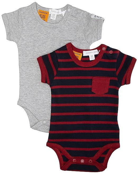 Pumpkin Patch 2PK Bodysuits, Body Bebé-para Niños, Orion Azul recién ...